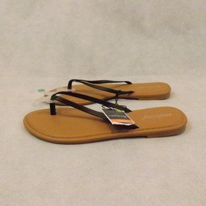 NWT Womens WEST LOOP Sandals - Black/Tan - Sz 7/8